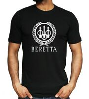 BERETTA Logo T-Shirt Hunting Shooting Italian Firearm Hunter Gift Top ALL SIZES