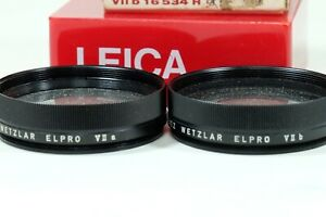 Leica Macrotar/Elpro 16533/16534 SET OF TWO!!! IN BOXES SERVII