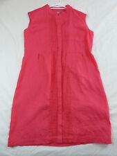 Yarra Trail 12 Pink Linen Sleeveless Shirt Dress