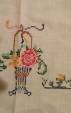 Vintage embroidered table cloth with napkins