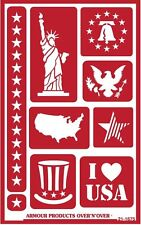 Armour Reusable Over n Over Glass Etching Stencil - ONO Patriotic