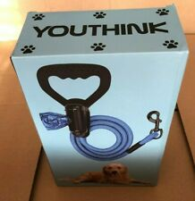 Dog Lead : Heavy Duty Leash : Comfortable Silicon Handle & Waste Bags Box