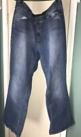 Lane Bryant Size 20 Regular Bootcut Tighter Tummy Technology Jeans Dark Wash T3
