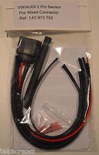 VW Audi 2 Pin Enchufe Conector Sensor 1J0 973 752 1J0973752 Pack de reparación FREEPOST &