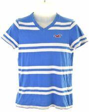 HOLLISTER Mens T-Shirt Top Small Blue Striped Cotton  AX11
