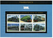 Nicaragua 1995 MNH Classic Steam Locomotives World 6v M/S Trains Railways Stamps