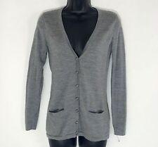 VINEYARD VINES Cardigan XS womems sweater gray merino wool extrafine v neck long