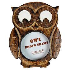 WOODEN OWL PHOTO FRAME - Animal Picture Holder Family Album home decor