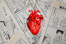 Anatomical Heart Necklace - Anatomy Tattoo Medical Steampunk Gothic Victorian