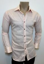 "PAUL SMITH Light Pink Striped 100% Cotton Shirt 16.5"" / 42"