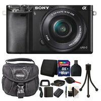 Sony Alpha A6000 Mirrorless Digital Camera + 16-50mm Lens + 16GB Value Bundle