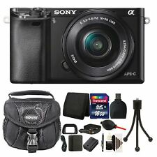 Sony Alpha A6000 Mirrorless Digital Camera + 16-50mm Lens + 16GB Value Bundle