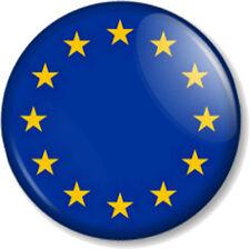 "EU European Union Flag 25mm 1"" Pin Button Badge Symbol Gold Stars Emblem Crest"