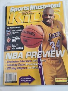 Shaquille O'Neal Angeles Lakers 2001 Sports Illustrated For Kids No Label