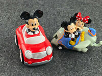 Disney Parks Exclusive Mickey, Minnie & Dumbo and Mickey Red Pull Back Cars