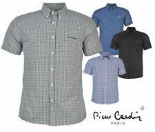 Pierre Cardin Short Sleeve Polyester Men's Casual Shirts & Tops