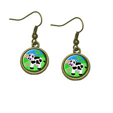 Cow Dangle Dangling Drop Earrings