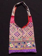 Antique Banjara Embroidered & Mirrored Recycled Tapestry Shoulder Bag