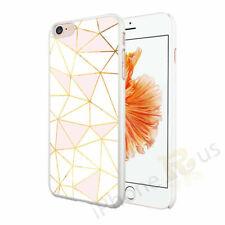 Mármol rosado oro blanco funda cubierta rígida para diversos teléfonos móviles OD77