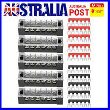 5X Dual Row 6 Positions 600V 15A Screw Terminal Block Terminal Barrier Strip fh