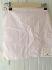 Rachel Ashwell Shabby Chic Petite Stripe White Fabric Sample 16x16 Cotton Pink