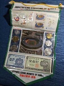 SIGHTSEEING SOUVENIR OF KOREA / COINS OF KOREA/  COINS SET OF KOREA UNC