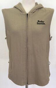 HARLEY DAVIDSON SMALL Waffle Knit Graphic Hoodie Vest / Jacket Liner 98433-10VW