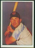 Original Autograph of Woodie Held of the Washington Senators on a 1978 TCMA Card