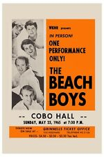 Surf: The Beach Boys at Detroit Cobo Hall Concert Poster 1965 12x18