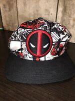 Deadpool Snapback Hat Cap Adjustable Marvel Comics Universe Dead Pool