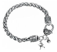 Silver Braided Tennis Bracelet
