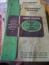 Vtg John Deere Sh Tractor Disk Harrow Operator Manual