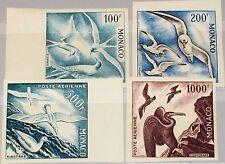 MONACO 1955 502-05 ungezähnt C41-44 imperf Seevögel Sea Birds Vögel Proofs ? MNH