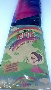 New aGreatLife Rainbow Delta Kite for Kids for Outdoor Games and Activities