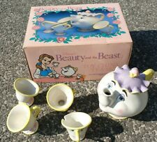 Vintage Disney Beauty And The Beast Mrs Potts Teapot And Chip Set Tea Set