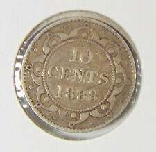 1888 Newfoundland - 10 Cent Coin (Dime) - Rated VG8