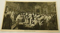 1883 magazine engraving ~ CORONATION OF JOHN V AND PETER I