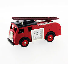 Novelty Fire Engine Miniature Clock in Red