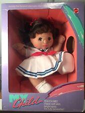 Vintage 1985 Mattel Rare Hispanic MY CHILD Brunette Girl Doll New in Box NIB