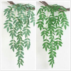 Garland Green Leaf Wire Vine Rattan Artifical Flower For DIY Wreat New QK