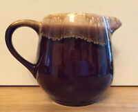 Vintage McCoy Pottery Brown Drip Creamer Pitcher 7020 USA
