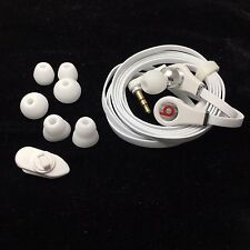 Beats by Dr. Dre Tour Headphones In-Ear EarBuds  No Control Talk No Mic / White