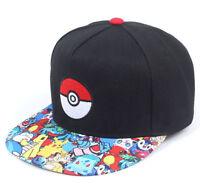 Women Men Boy Snapback Pikachu Go Pokeball Pokemon baseball Golf Sports Hat Cap