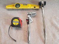 Scaffolding Heavy Duty Full Quality Tool Set List Ratchet Spanner Level Tape
