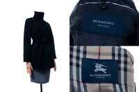 Women's BURBERRY LONDON Pure Wool Belted Trench Plaid Size 38