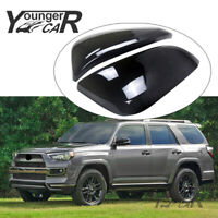 BLACK Mirror Covers for Toyota 4Runner 2014-2020 ABS Painted Side Moulding Trim