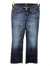7 For All Mankind Boot Cut Dark Wash Low Rise Women's 24 Actual 26 x 31.5