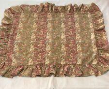 Ralph Lauren Paisley Floral Cotton Linen Hearthside Ruffled Standard Pillow Sham