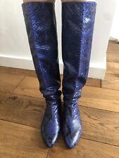 Georgina Goodman Python Blue Boots SZ 40
