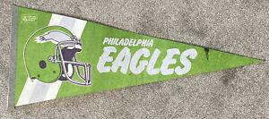 """Philadelphia Eagles Vintage Circa 1980's Team Helmet Logo Football 29"""" Pennant"""